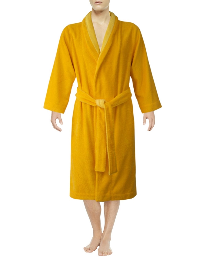lounge robe slippers dualface golden haze tones - Mens Bathrobes