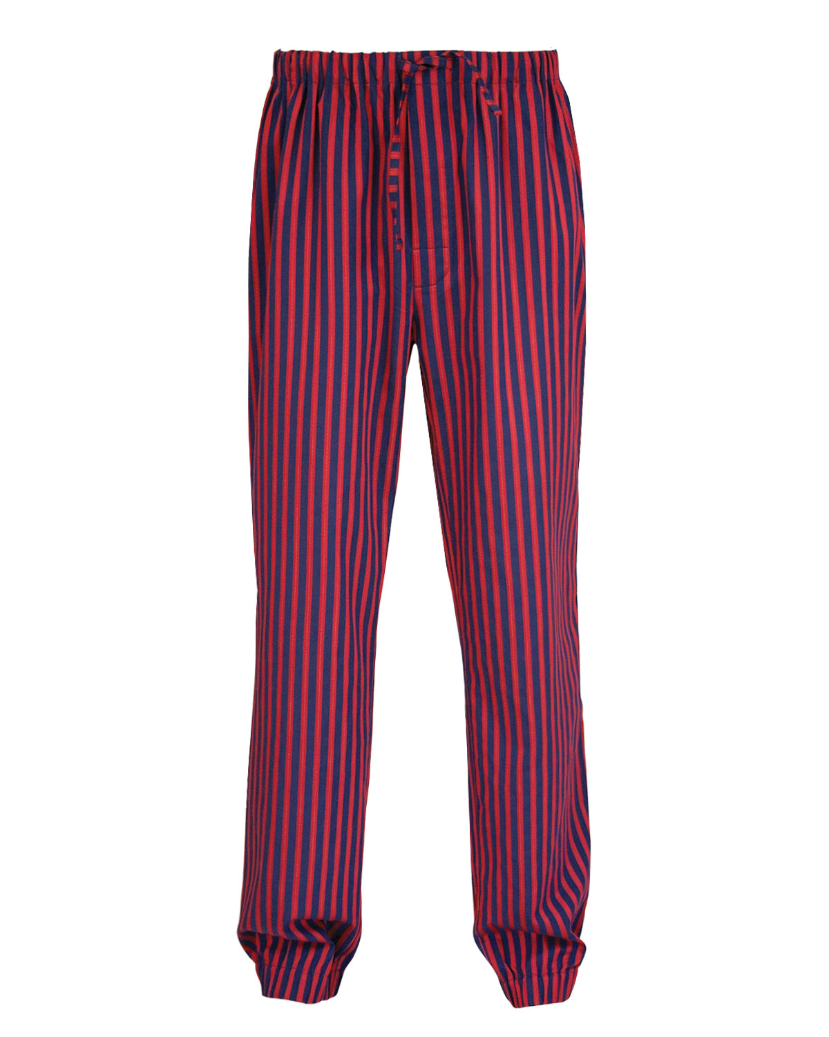 Lounge Pants Sateen Cotton Burgundy-Blue Hamilton Collection