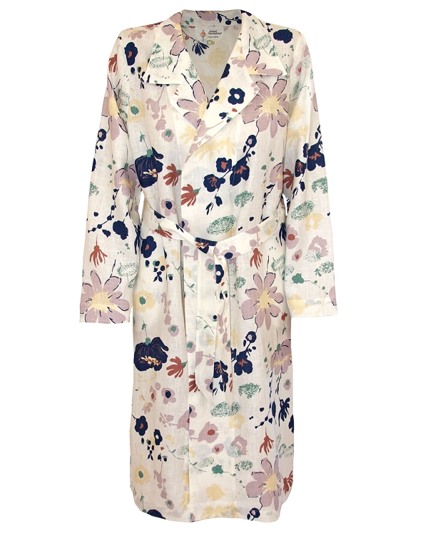 Lounge Night Robes Soft Printed Linen Glamour Collection