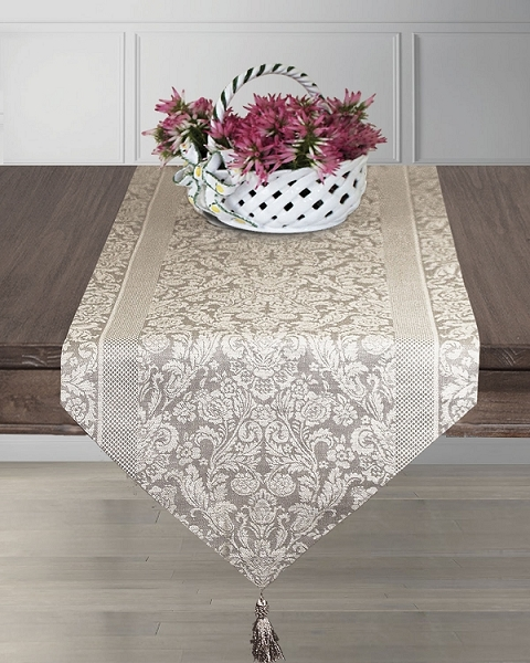 Table Runners Bisque, Fontanka Collection
