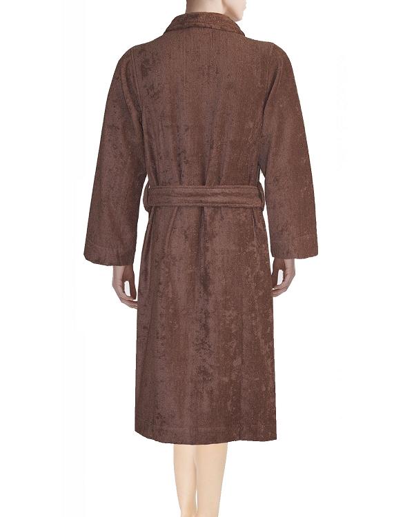 b95d14b47a Lounge Bath Robe Slippers Set Bi-face Chocolate-Golden Brown Faccia dei  Colori