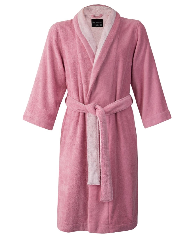 Shawl Bathrobe Slippers Set Bi-face Peony-Misty Rose, Faccia dei Colori