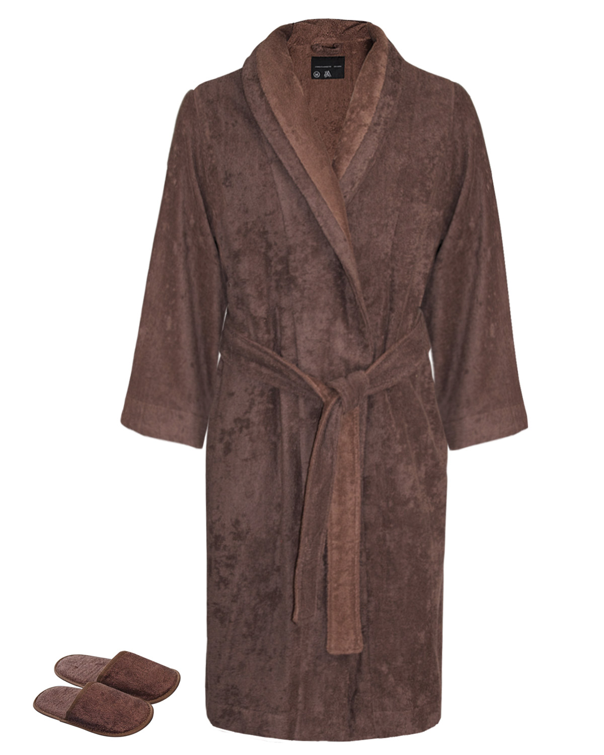 Robe Slipper Bi-face Chocolate-Golden Brown Faccia dei Colori