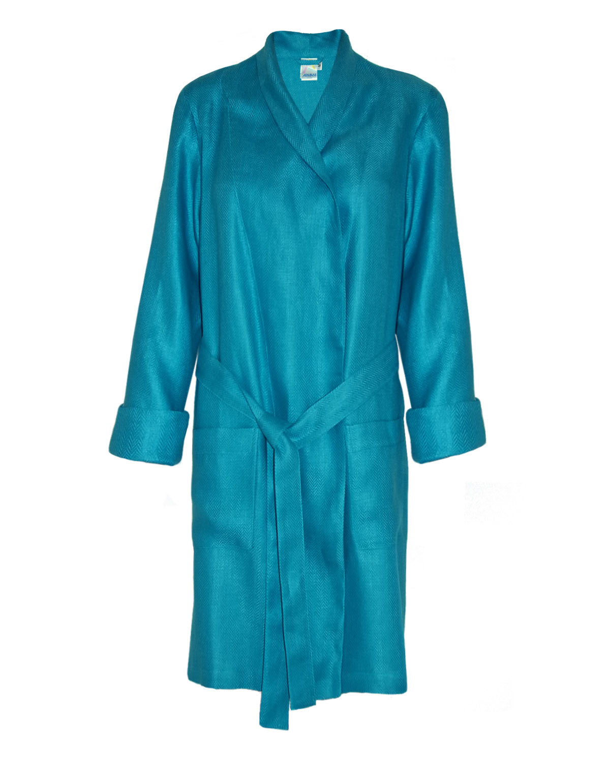 Fitted Robe Woven Sateen Linen Blue Moon, Man In Style