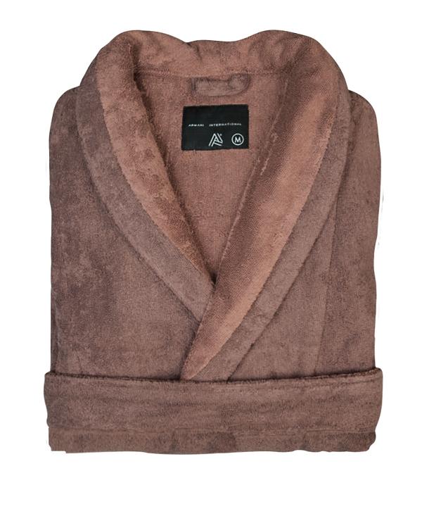 e70fd22050 Lounge Bath Robe Slipper Set Bi-face Chocolate-Golden Brown Faccia dei  Colori