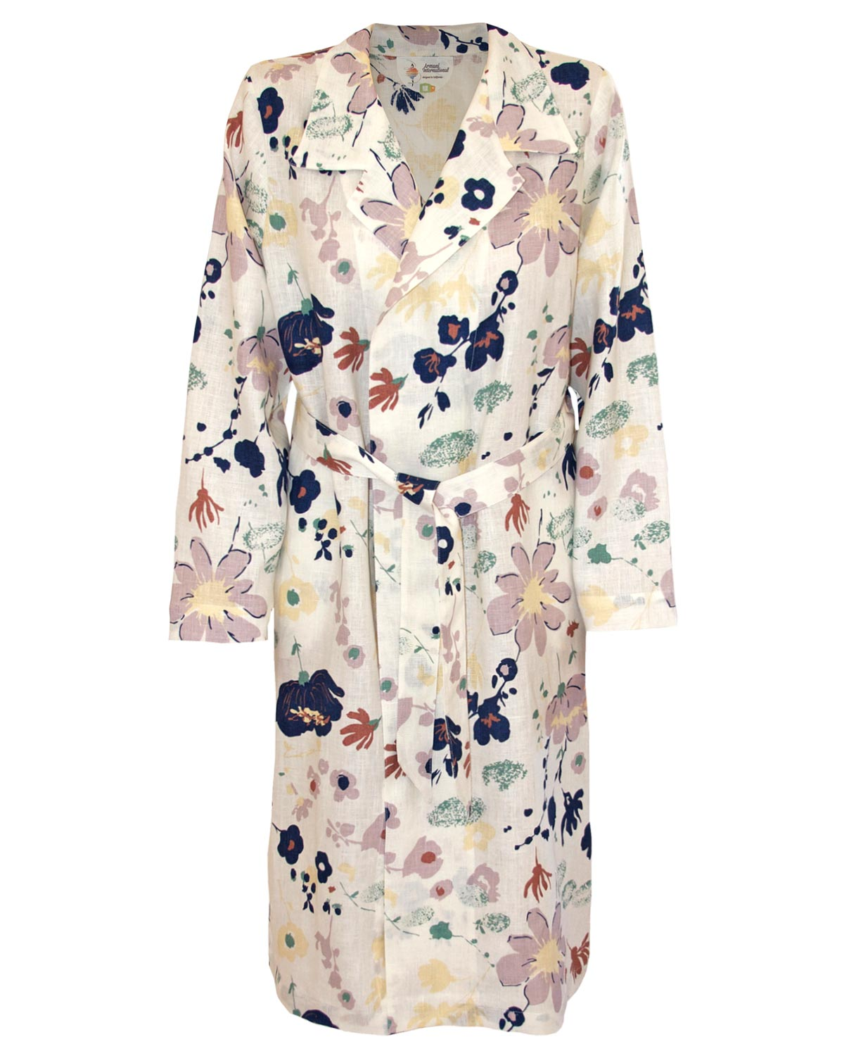 Linen Floral Print Robe Glamour Collection