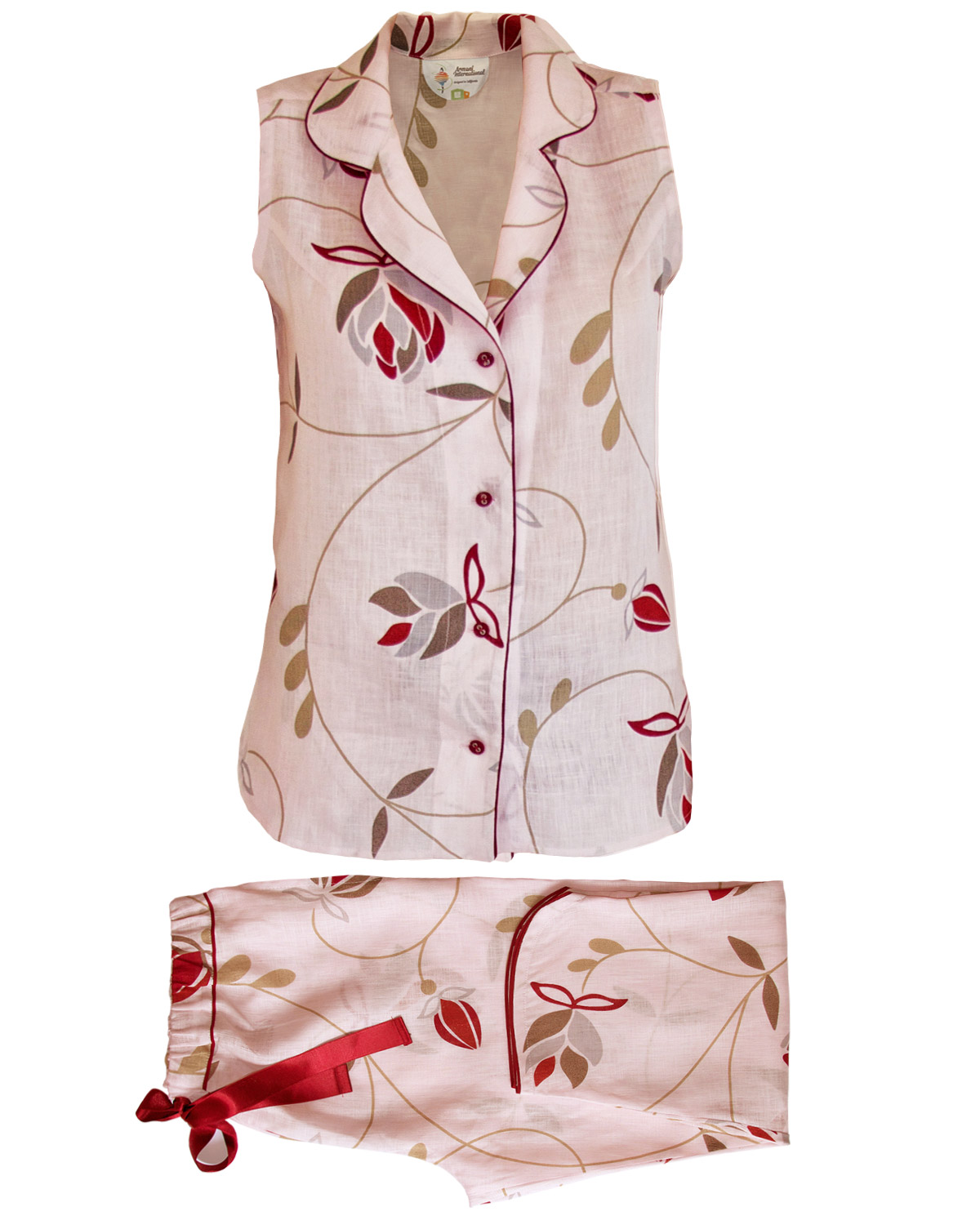 Sleeveless Pajama Set, Brigitte Collection