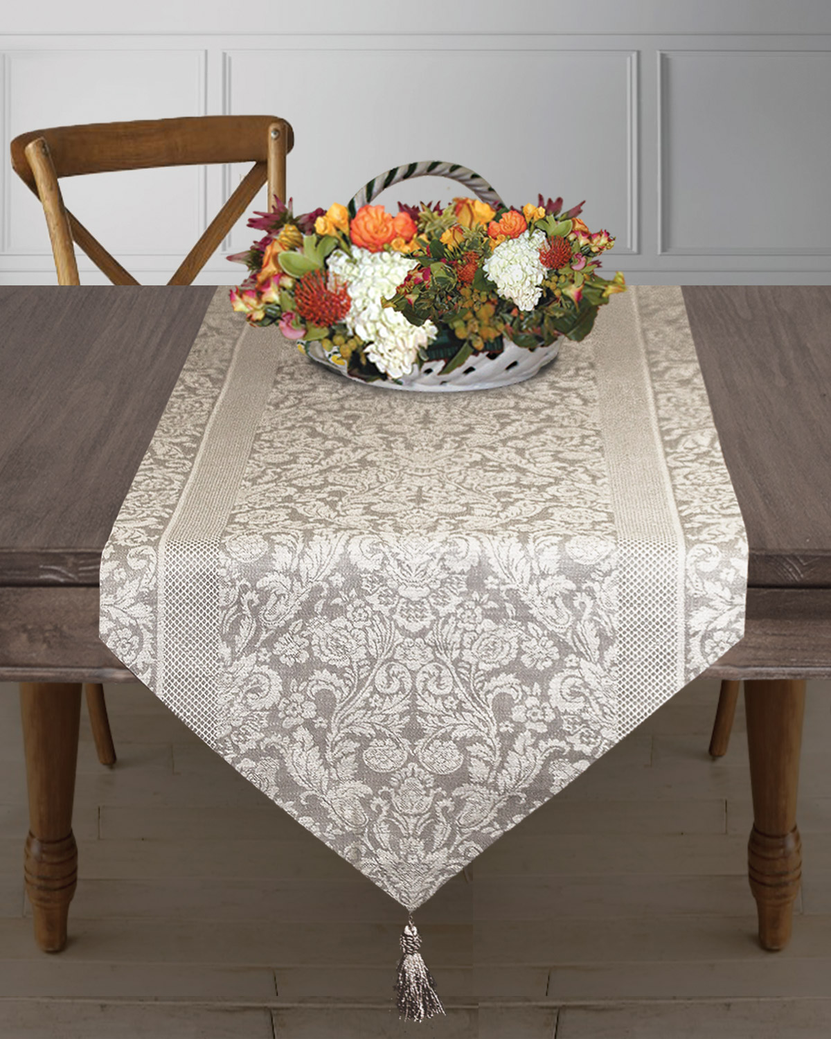 Table Runners Bisque, Jolie Fleurs Collection