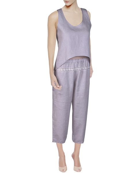 Linen Camisole + Pajama Bottom, Anna Collection