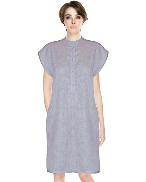 Linen Deluxe SleepShirt, Smokey Lilac, Tosca Collection
