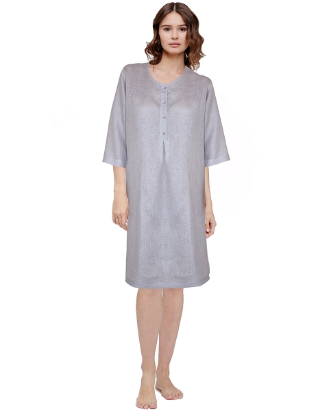 Lounge Shirt Dress Smokey Lilac, Gabriella Collection