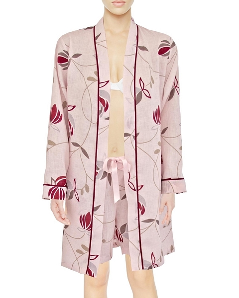 Kimono Lounge Robe + Shorts Set, Gigi Collection