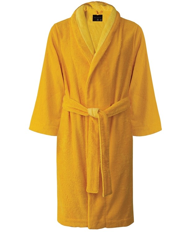 Lounge Bath Robe Slippers Set Bi-face Daffodil-Golden Haze, Faccia dei Colori