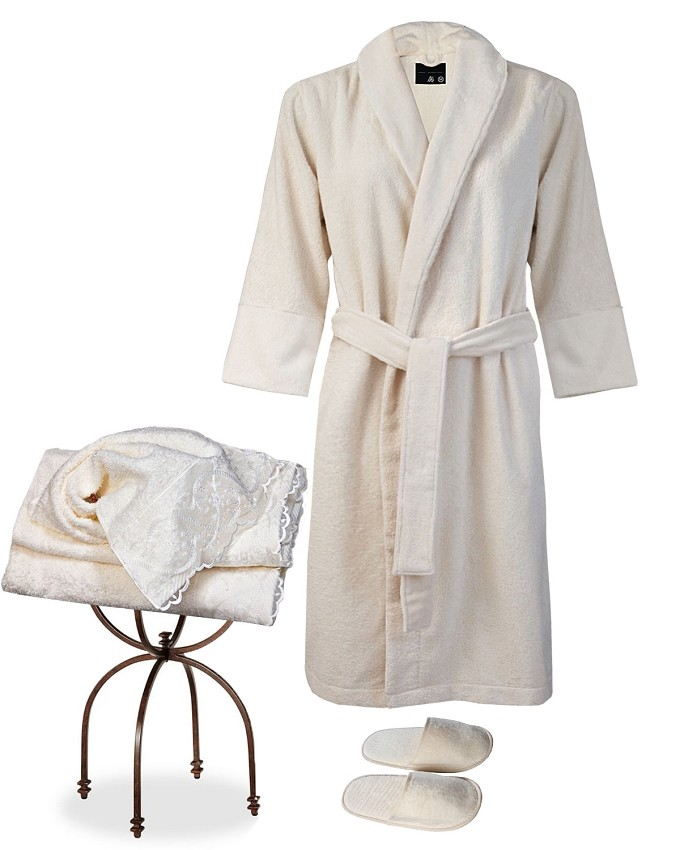 Robe Slippers Hand Towel Set 3 Pieces - Seduction Collection
