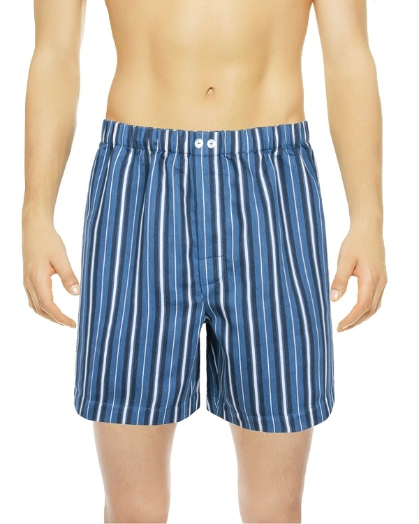 Charm Blue Striped Boxer Shorts, Encanto Collection