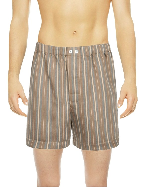Woven Stripe Boxer Shorts Caramel Striped, Encanto Collection