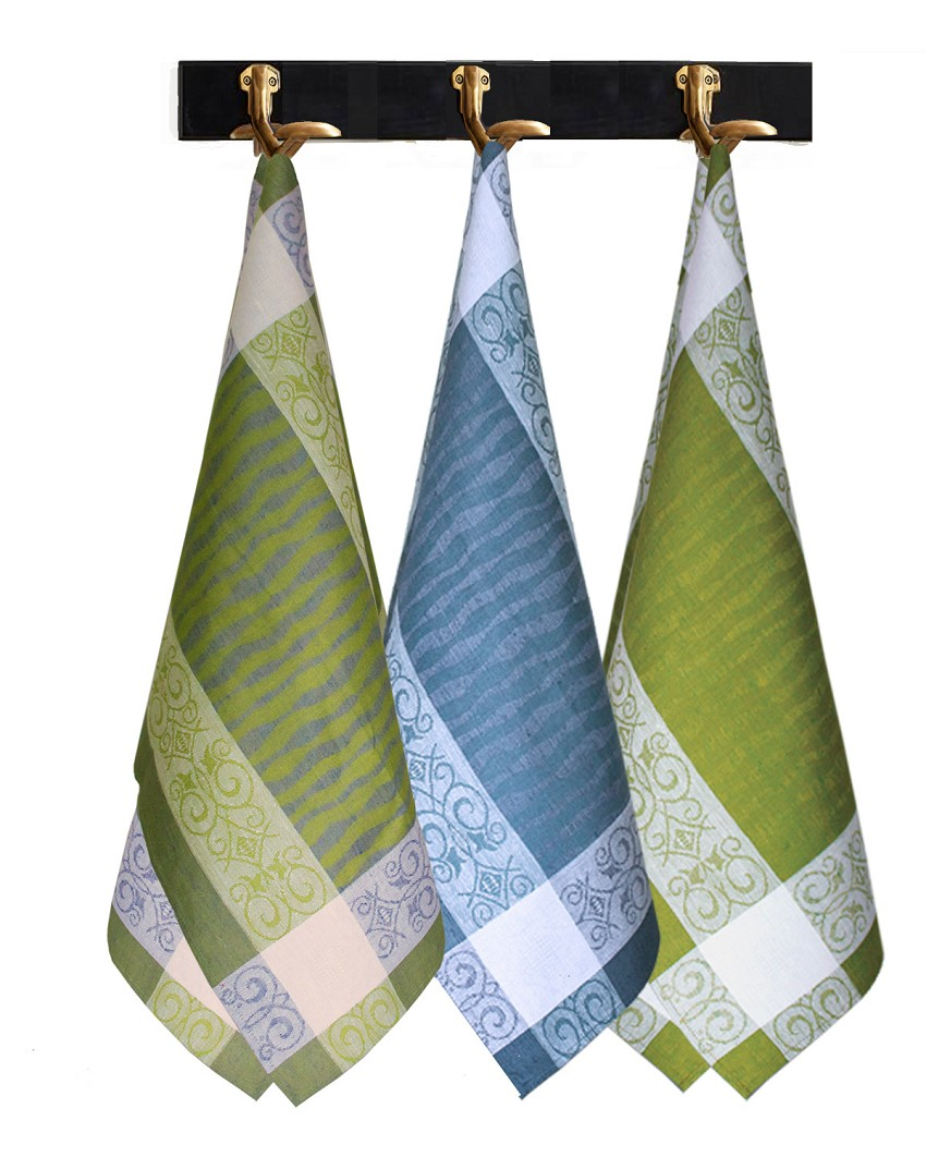 Dish Towel Set of 3 Pieces - Blend of Linen Cotton